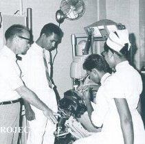 Image of William Stocker in Dental Clinic on the SS HOPE in Ceylon.