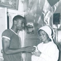 Image of Leon Spruill, Medical Stores, and Tami Lee Orsborn on the SS HOPE in Ceylon