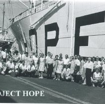 Image of Pacific Medical Centre group attending a symposium aboard the SS HOPE.