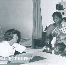 Image of Unknown nurse on the SS HOPE in Ceylon.