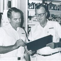 Image of Richard Lillard and Norman Sears on the SS HOPE in Ceylon.
