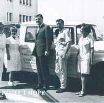 Image of l-r George Brade, Gladys Brady, Tom Foley, Jim Windust and Kay Olheiser.