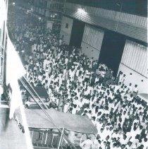 Image of SS HOPE departing Ceylon.