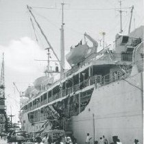 Image of SS HOPE docked in Ceylon.