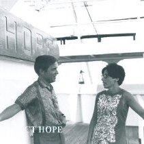 Image of Dick Daniels and Connie Blish on the SS HOPE in Ceylon.