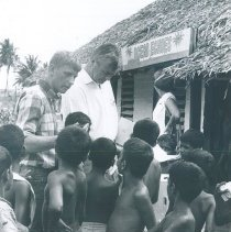 Image of John Paul and Patrick McGreal at a clinic in Ceylon.