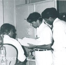 Image of Robert Eberle in ENT clinic on the SS HOPE in Ceylon.