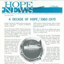 Image of HOPE News vol 8 No 2/1970 Special Rpt  Pg 9