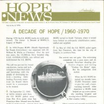 Image of HOPE News vol 8 No 2/1970 Pg 1