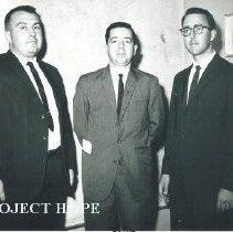 Image of Don Weaver, Archie Golden and Burtt Richardsonin in Trujillo, Peru.