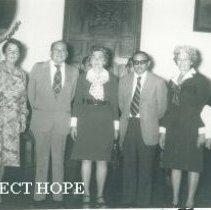 Image of l-r Sr.Meza,Dr Hiers,Sra Saenz,Sr Meza,Sra Tannhauser,Sra Machado,Dr Vinate