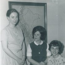 Image of Alice Zenick, Margaret Straub, and Esther Seeley on the SS HOPE in Peru.