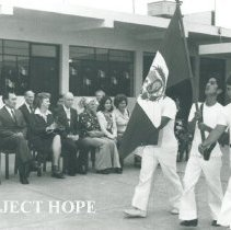 Image of Opening Ceremony at Mannucci School in Peru.