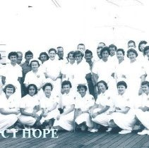 Image of Staff on the first voyage of the SS HOPE in Indonesia and South Vietnam 196
