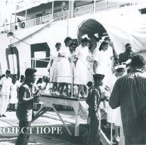 Image of Project HOPE's nurses on the first voyage of the SS HOPE 1960.