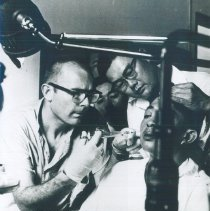 Image of An unknown HOPE Dentist with counterpart on the SS HOPE in Saigon, Viet Nam