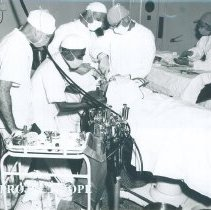 Image of Televised operation in progress on SS HOPE in Indonesia 1960.