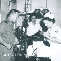 Image of Unknown in dental clinic on the SS HOPE in Indonesia 1960.