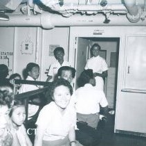Image of Patients waiting in admission on the SS HOPE in Indonesia.
