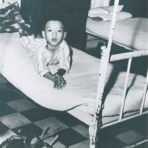 Image of Young patient in rehabilitation center in Saigon in 1960.