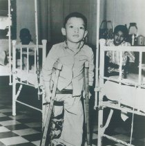 Image of Young patient in rehabilitation center in Saigon opened while SS HOPE 1960.