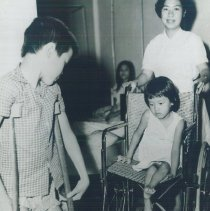 Image of Young Vietnamese patient in HOPE-run orthopedic rehabilitation center.