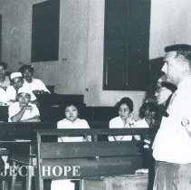 Image of Unknown doctor lecturing in Vietnam while SS HOPE there in 1960.