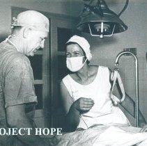 Image of Unknown doctor and nurse in Tan An Hospital while SS HOPE in Vietnam.