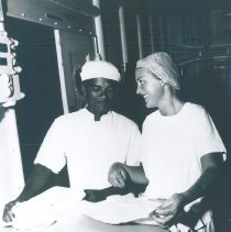 Image of Unknown nurse on the SS HOPE in Indonesia 1960.