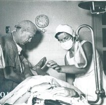Image of Unknown doctor and nurse while the SS HOPE was in South Vietnam 1960