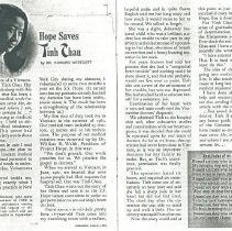 Image of Article written by Howard Westcott about a patient on the SS HOPE in Vietna