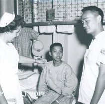 Image of Chief nurse Claire O'Neill on SS HOPE in Indonesia 1960.