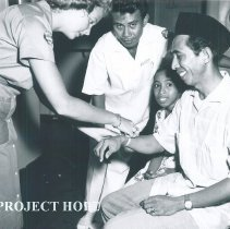 Image of Med Secretary Maria Diffes on SS HOPE in Indonesia 1960