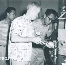 Image of Sanitation engineer on the SS HOPE in Indonesia 1960