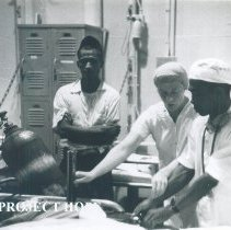 Image of Nurse Anesthetist Margaret Donahue on the SS HOPE in Indonesia 1960