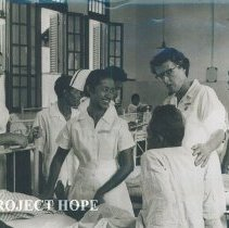 Image of Unknown nurses in Hospital in Indonesia while the SS HOPE was there 1960