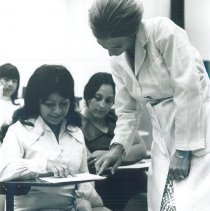Image of HOPE nurse Dorothy Piland at Laredo Junior College.