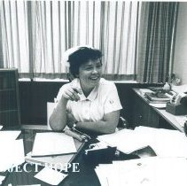 Image of Doris Edwards, HOPE Chief Hospital nurse in Mercy Hospital Laredo 1969.