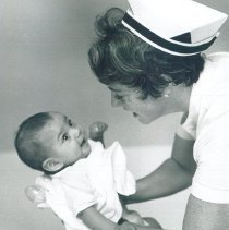 Image of HOPE nurse Maureen Gallagher Dever in Mercy Hospital Laredo Texas 1969.