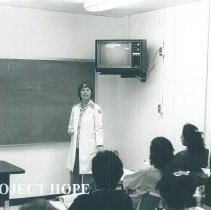 Image of HOPE nurse Claire Renehan at Allied Health Center in El Paso Texas 1970