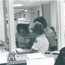 Image of HOPE nurse Camille Scheffler at Hotel Dieu hospital in El Paso Texas 1970