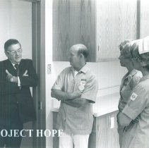 Image of William B Walsh at El Paso Community College with Project HOPE 1970.