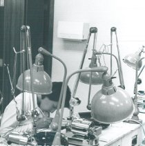 Image of Dental lab in new Allied Health Center of El Paso CC with HOPE 1970.