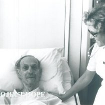 Image of HOPE nurse Camille Scheffler in EPCC with Project HOPE 1970.