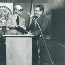 Image of William B Walsh and John Schaaf EPCC Director at appreciation ceremony.
