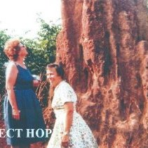 Image of Eleanor Mattinson and Mrs Hoover in Guinea 1964 with Project HOPE.