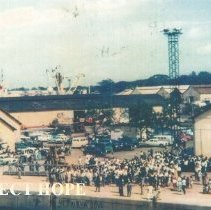 Image of SS HOPE arrival in Conakry, Guinea on Oct 15, 1964.