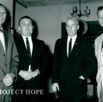 Image of Harold Brookes, Don Weaver, Dr VanParmlee and James Madison 1965.