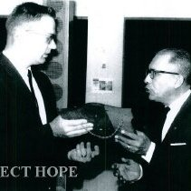 Image of James Madison thanked by the Rotary Club in Quayaquil Eduador 1965.