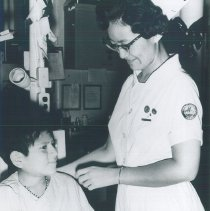 Image of Unknown HOPE nurse on the SSHOPE in Guayaquil,Ecuador 1963.
